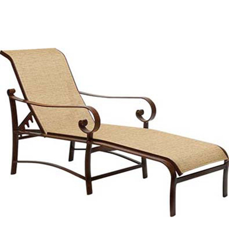 Woodard 62h470 belden sling adjustable chaise lounge for Chaise lounge cheap