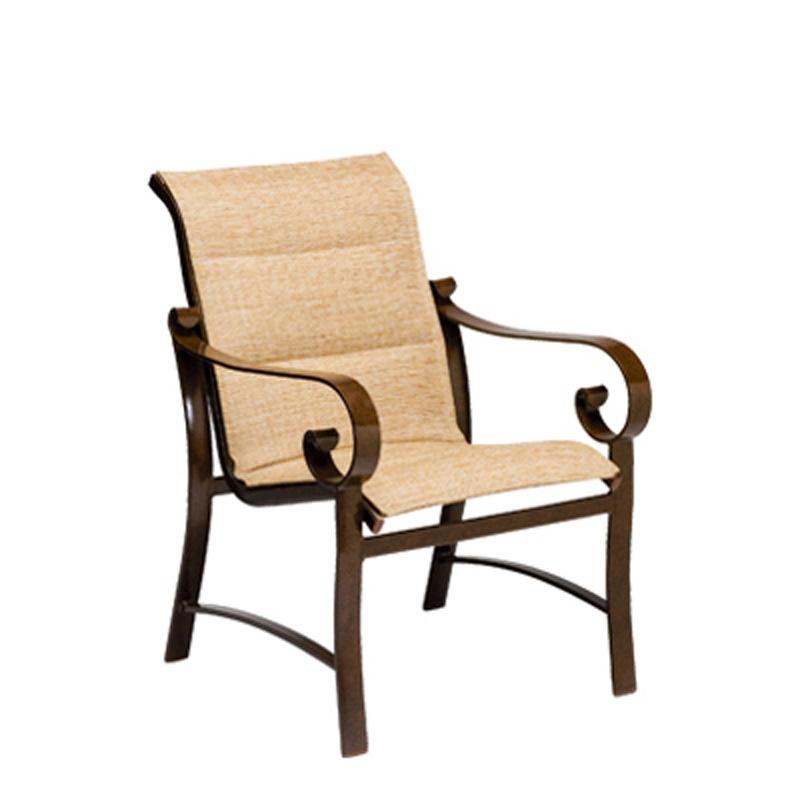 Woodard 62H501 Padded Sling Belden Dining Arm Chair