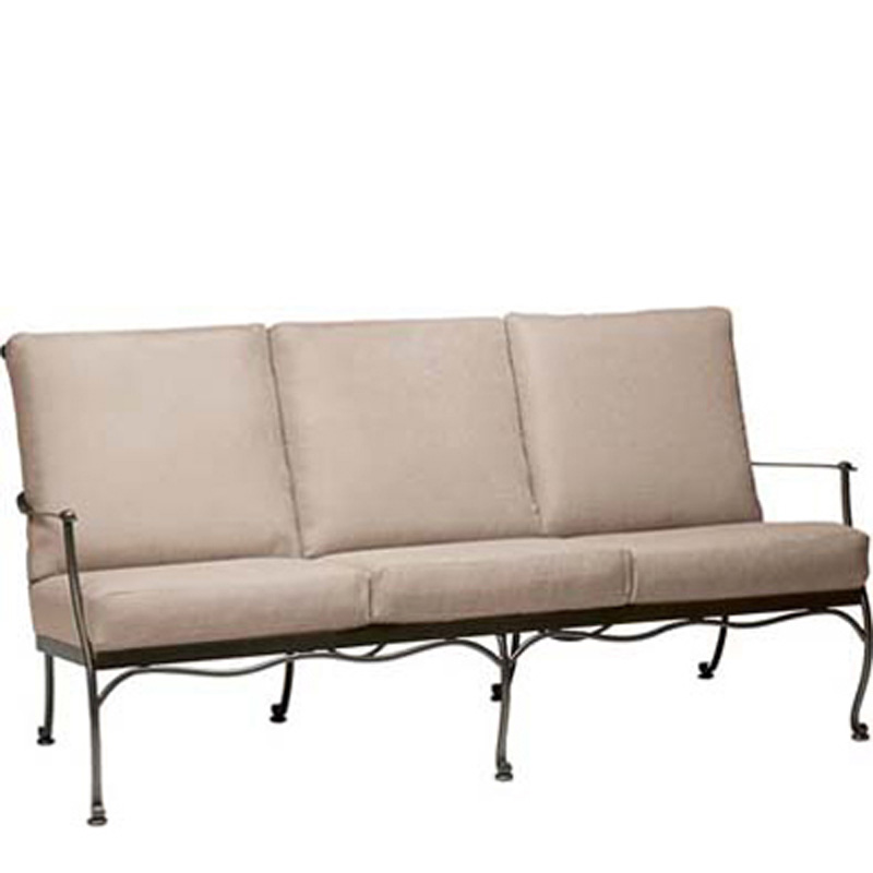 Woodard 7f0020 maddox sofa with cushions discount for Broyhill chaise lounge cushions