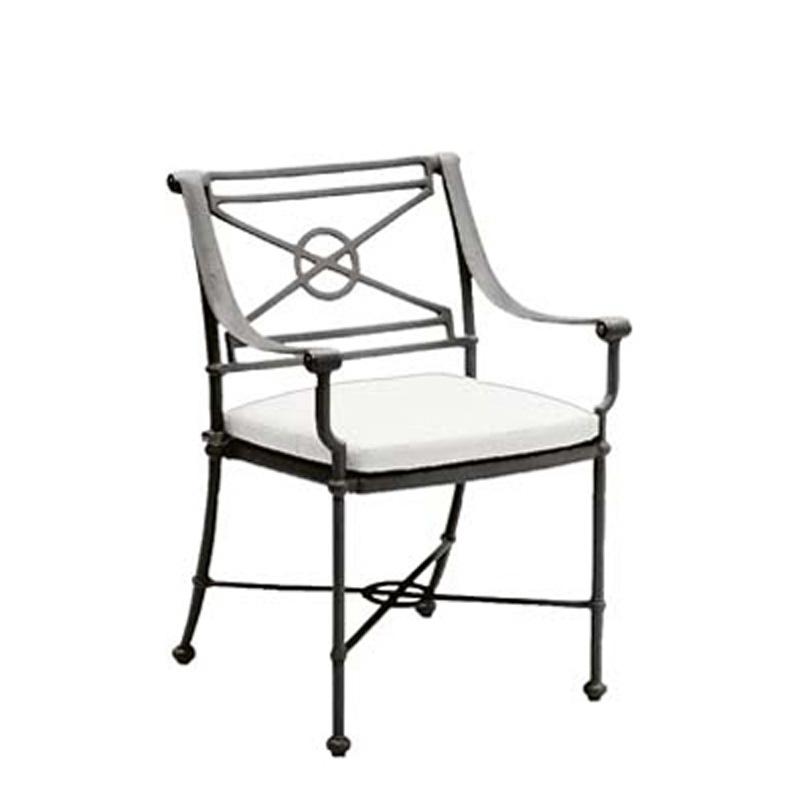 Woodard 850401 Delphi Dining Arm Chair Loose Cushion