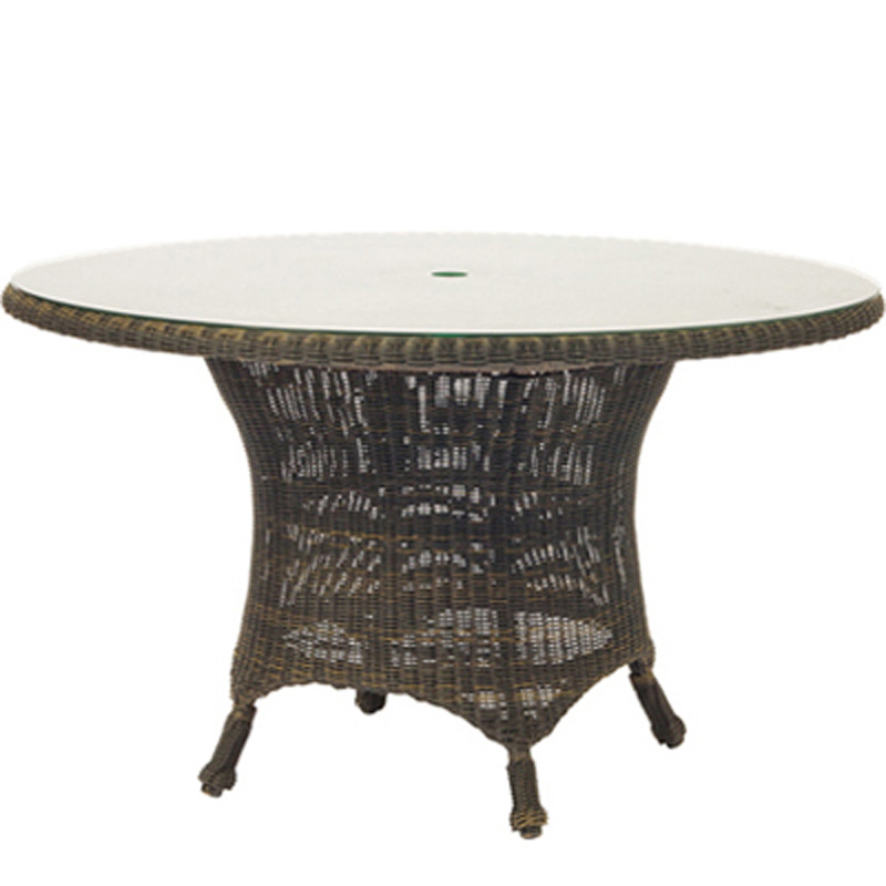 WICKER DINING TABLE OUTDOOR AND PATIO Hickory Park Furniture Galleries - 54 inch glass top round dining table