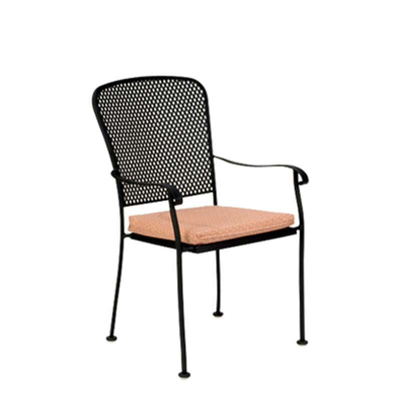 Woodard 2Z0001 Fullerton Dining Arm Chair Stackable Discount Furniture At H
