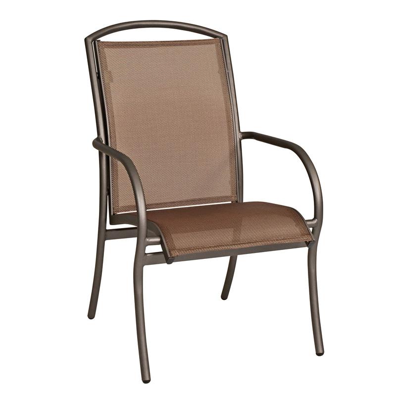 Woodard 6a0417 Rivington Dining Arm Chair Stackable
