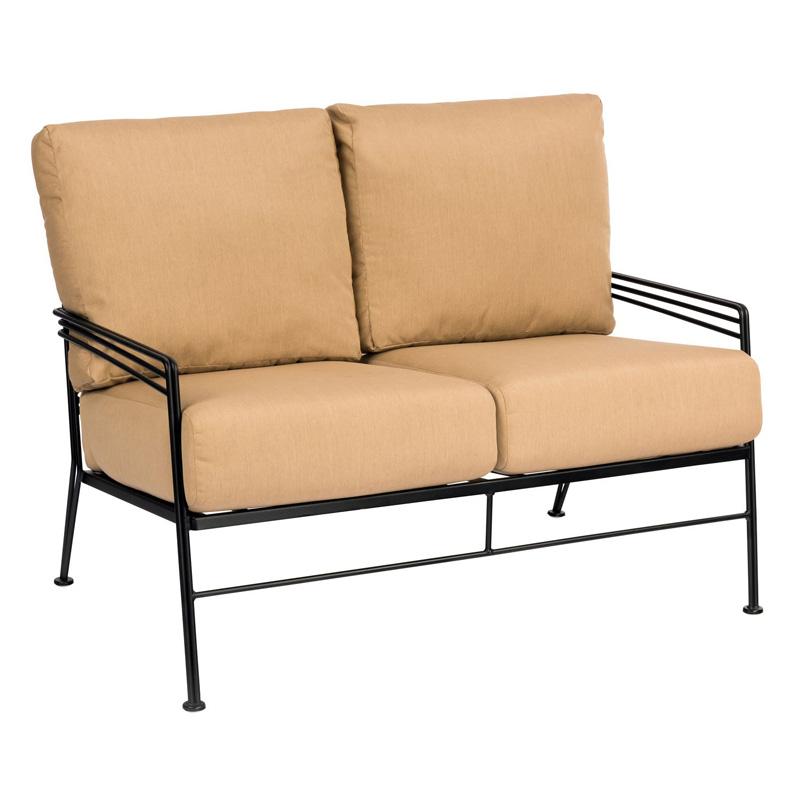 Patio loveseat alera rl loveseat reception lounge series for Glenlee patio furniture covers