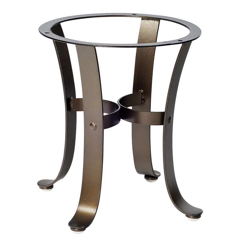 Woodard 2w3900 cascade end table base discount furniture for Side table base