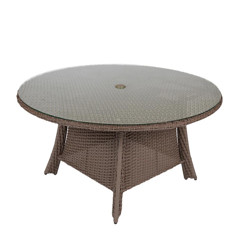 Woodard S Augusta Woodlands Woven Inch Round Dining Table - 54 inch glass top round dining table