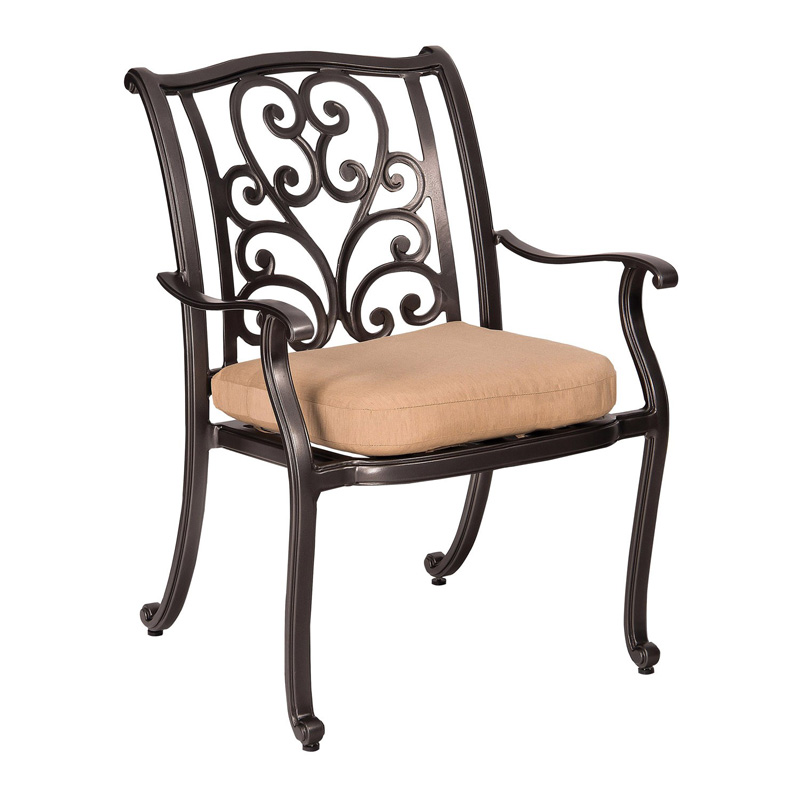 Woodard 3w0417 New Orleans Dining Arm Chair Discount Furniture At Hickory Park Furniture Galleries