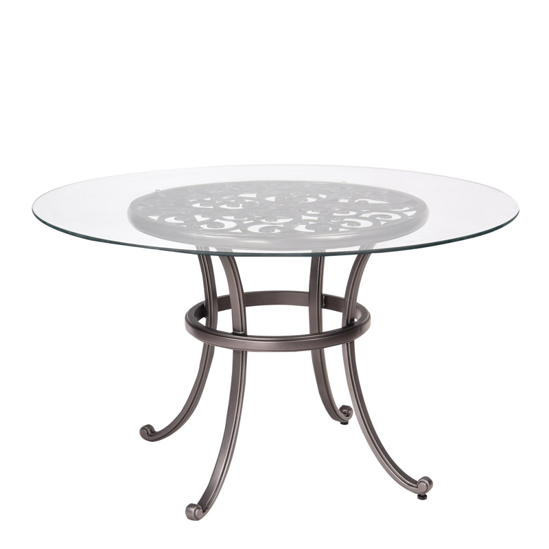 Woodard 3w0436 New Orleans Round Umbrella Table With Glass Top Discount Furniture At Hickory