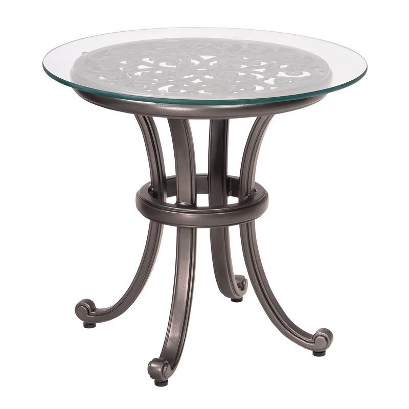 Woodard 3w0439 New Orleans End Table With Glass Top