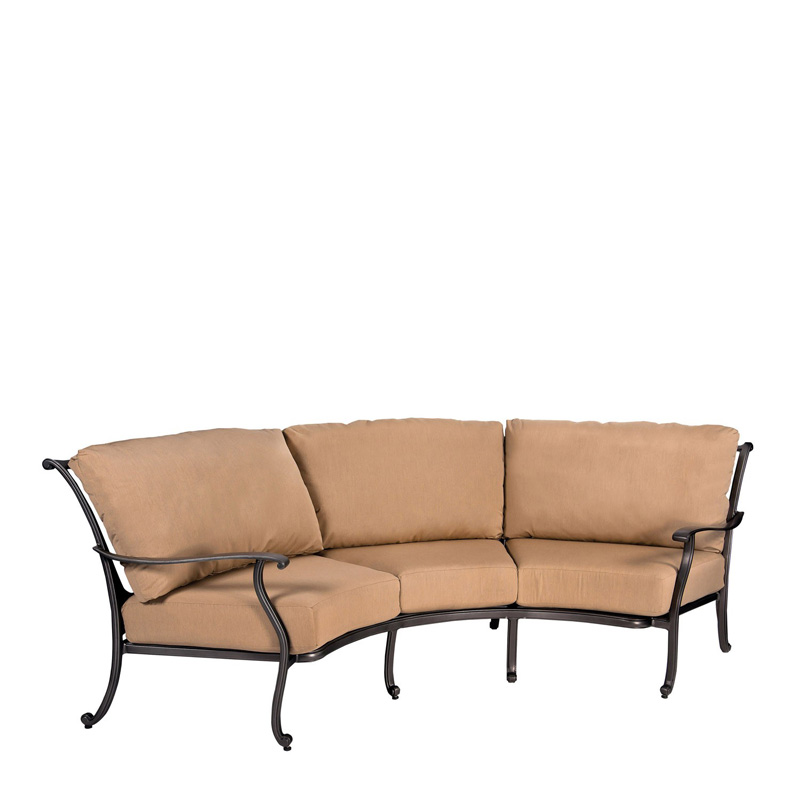Woodard 3w0464 New Orleans Crescent Sofa Discount Furniture At Hickory Park Furniture Galleries