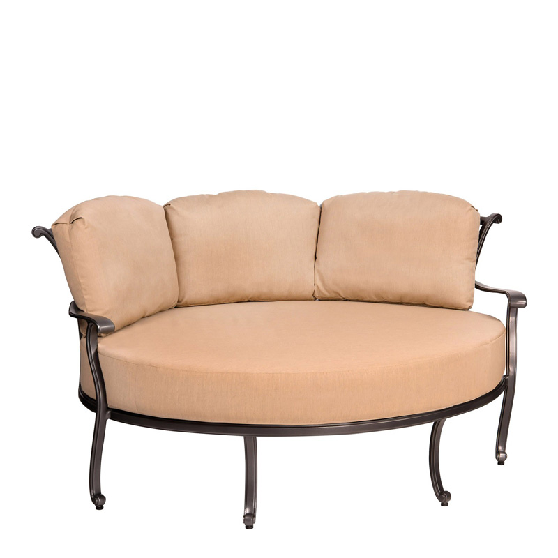 Woodard 3w0499 New Orleans Crescent Cuddle Chair Discount Furniture At Hickory Park Furniture