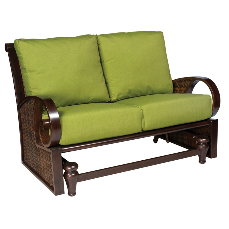 Woodard S540821 North Shore Loveseat Glider Discount Furniture At Hickory Park Furniture Galleries